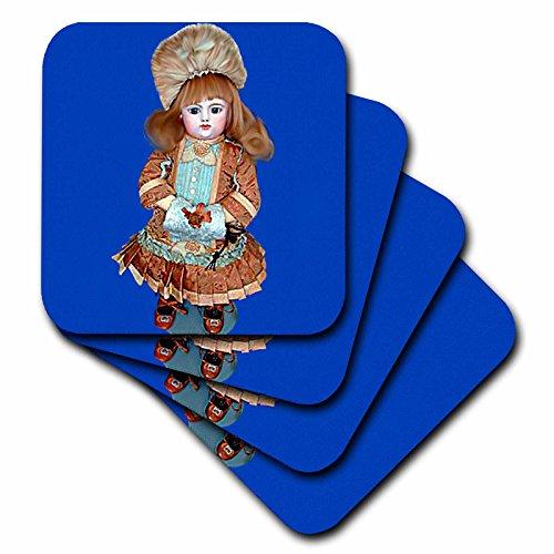 3dRose Bru Antique Puppe – Keramikfliesen-Untersetzer, Set mit 8 Stück (cst_750_4), Keramik