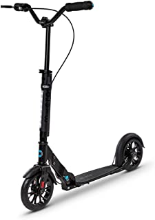Micro Kickboard - Metropolitan Deluxe - Two Wheeled Scooter Featuring Rear Disc/Hand Brake and Front Suspension Plus Large...
