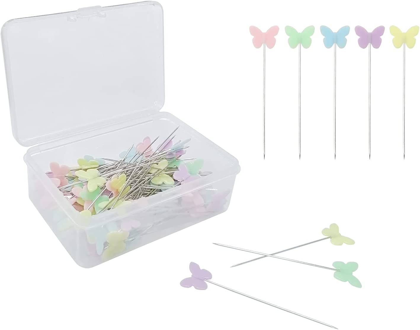 100Pack Butterfly Head Pins Fixed San Antonio Mall store Positioning Sewing Nee Marker