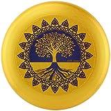Eurodisc 175 g Ultimate Frisbee Disco de competición de Wettkampf-Wurf-Schurf-Scheibe estable de más de 100 metros, diseño foto foto foto Tree of Life Gold sostenible de materias primas renovables