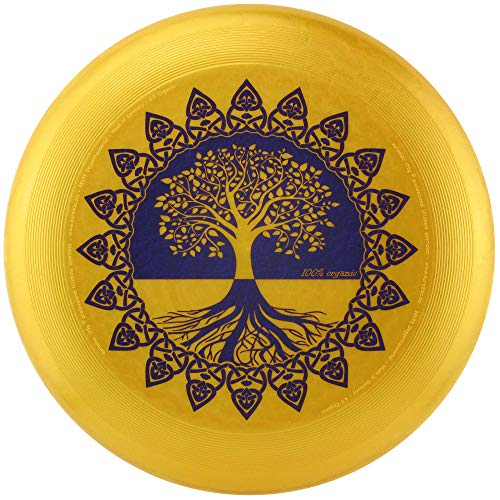 eurodisc 175g 100% Organic Flying Ultimate Frisbee Competition and Leisure Time Disc Design Tree of Life Gold Special Scratch Resistant Full Color Print…
