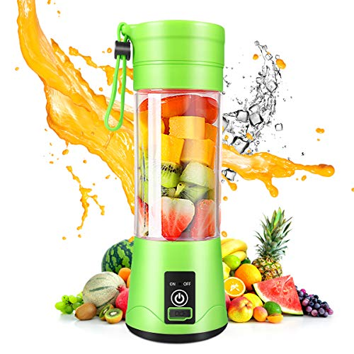 Portable Blender, Personal Blender Shakes and Smoothies, Mini Blender 2000mAh USB Rechargeable with Six Blades, Juicer Cup for Sports Travel and Outdoors