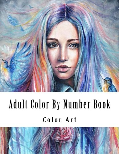Price comparison product image Adult Color By Number Book: Large Print Color By Number Coloring Book for Adults with Dresses,  Town Houses,  Flowers,  Gardens,  and More