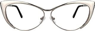 Zeelool Women's Oversized Stylish Metal Browline Cat Eye Glasses Ellen VFM0176