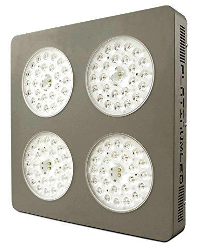 Advanced Platinum Series P4-XML2 380w 12-band LED Grow Light + CREE 10w XM-L2 w/ DUAL VEG/FLOWER FULL SPECTRUM, grey