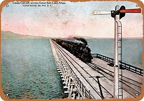 HNNT - Placa metálica de 20 x 30 cm, diseño de Puente de salero del Pacífico del Sur de 1918, Estilo Vintage