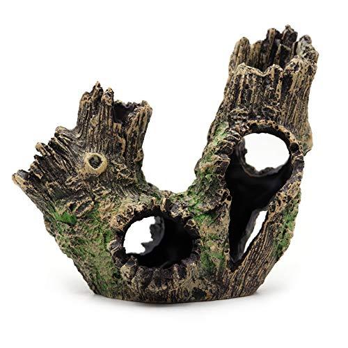 Decoracion Acuario,DecoracióN de Pecera de Cueva de Resina, Utilizada para Peces, Camarones, Serpientes, DecoracióN de Acuarios Ocultos