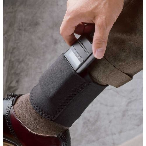 Desantis Ambidextrous - Black - Ankle Cell Phone Holster N33BJZZZ0