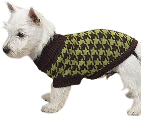 East Side Collection Now on sale 10-Inch Acrylic Oxford Dog San Diego Mall Houndstooth Swea