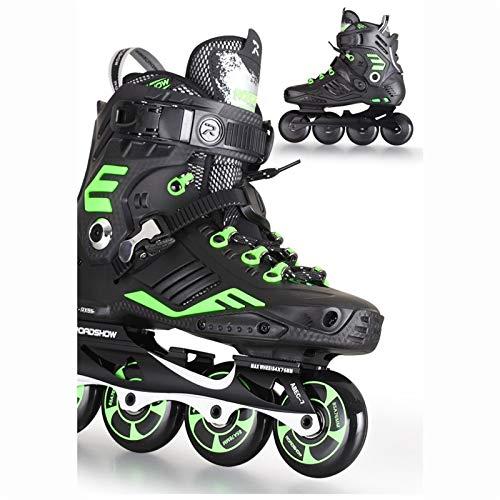 mfw@wewe Adult Inline Skates, Professional Fancy Roller Skates, Suitable For Beginners 35-44 Yards (Color : #1, Size : EU 38/US 6/UK 5/JP 24CM)