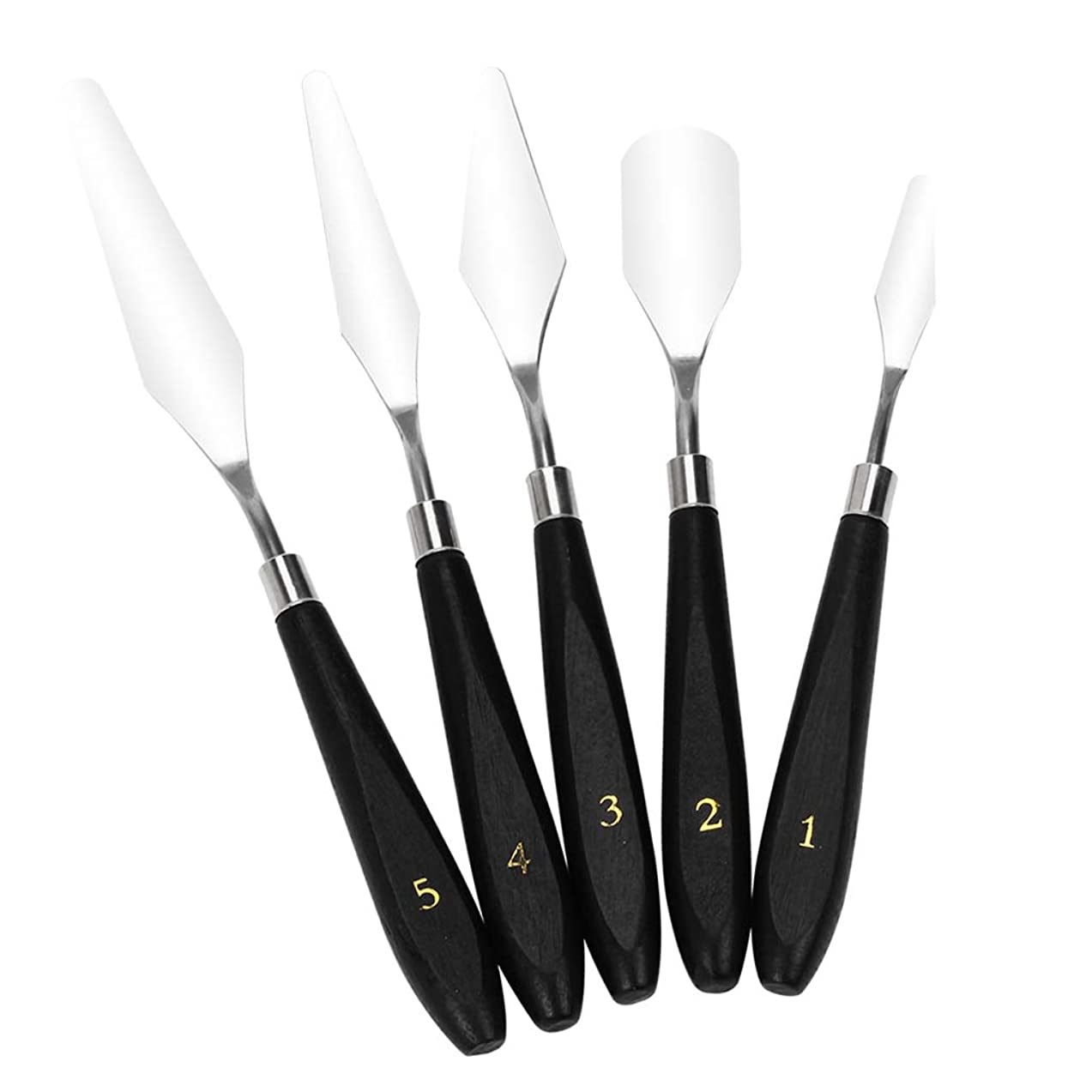 D DOLITY 5 Types 3D Print Removal Tools with Wood Handle Spatula Knife Cleaning Kits