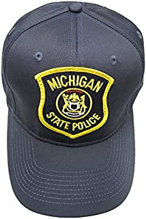 Michigan State Police Patch Snap Back Ball Cap - Navy Blue Hat