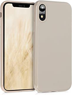 kwmobile TPU Silicone Case for Apple iPhone XR - Soft Flexible Shock Absorbent Protective Phone Cover - Cream Matte