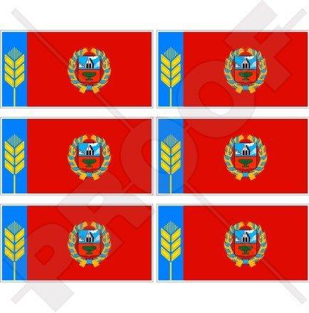 Altai Drapeau Kraï ALTAY Applique murale Territoire Russie Fédération Russe, 40 mm (40,6 cm) Mobile, Téléphone portable, mini en vinyle autocollants, Stickers x6