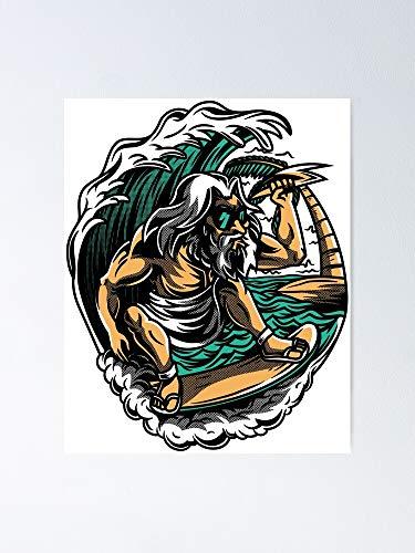 AZSTEEL Póster Aloha Zeus 11.7 x 16.5