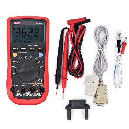Digital-Multimeter UNI-T UT61C, digitaler AC/DC-Spannungsprüfer, Strom-, Widerstands-, Frequenzmultimeter-Multitester, digitales True-RMS-Multimeter