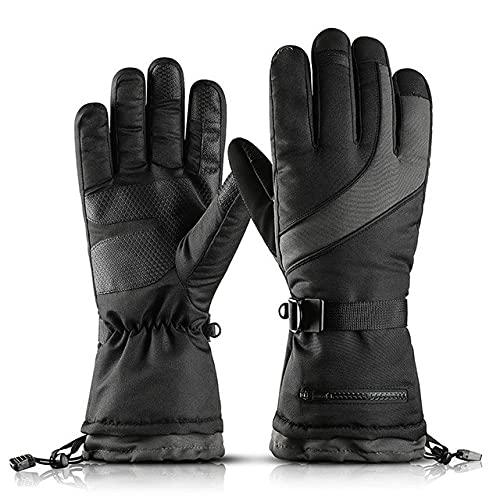 Guantes de esquí para hombre para moto de nieve, guantes de invierno a prueba de viento e impermeables unisex