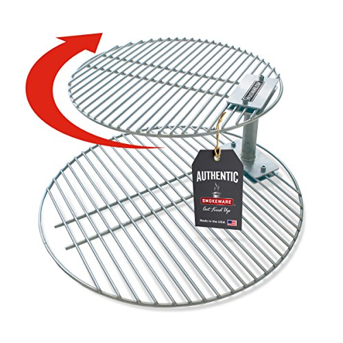 SMOKEWARE Stacker & Grill Grate Combo (Top Grate and Stacker Only) – Compatible with Xtra Large Big Green Eggs, Stainless Steel Grill Accessories