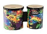 Remo KD-5400-01 Kids Percussion Bongo Drum - Fabric Rain Forest, 5'-6'