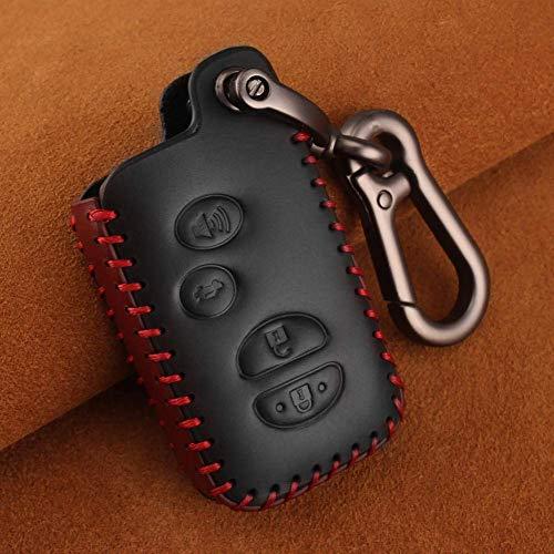 YUAAZ Autoschlüsseletui Leder Auto Schlüssel Schlüsselbund Abdeckungen Schlüsseletui Tasche Schlüsselbund Tasche 2/3/4 Tasten, Für Toyota Prius Land Cruiser Avalon Prado