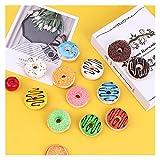 HONGYMY Calamita da frigo 4pcs Dolce Donut Donut Donut Frigorifero Magnete Frigorifero Messaggio Magnete Magnetico Adesivi Magnetici Simulazione Food Home Decor