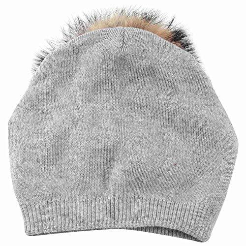 Moligh doll Damen Strick Wollmütze - Winter Solid Cashmere Ski Hats (Hellgrau)