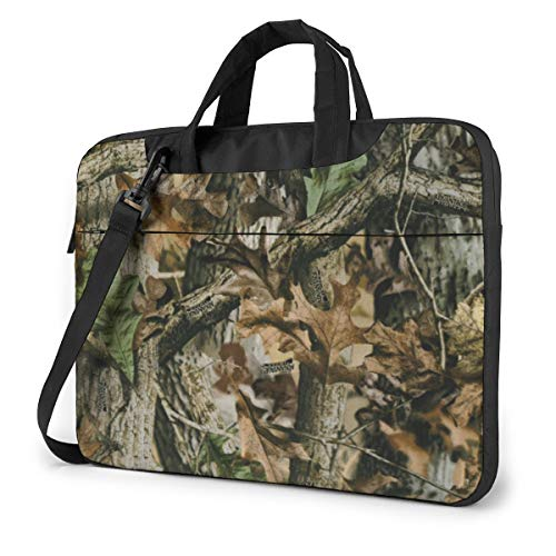 Free Realtree Camo Laptop Shoulder Messenger Bag, Multi-Functional Notebook Sleeve Carrying Case with Strap & Trolley Belt for Lenovo Acer Asus Dell Lenovo Hp Samsung Ultrabook Chromebook 14 Inch