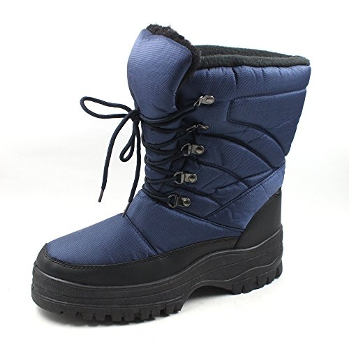 SkaDoo Mens Snow Winter Cold Weather Boots 7702 Navy Size 13