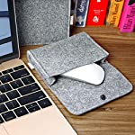"""Inateck 12.3-13 Inch Laptop Sleeve Case Compatible with 2020 MacBook Air, MacBook Pro 13'' 2020/2019/2018/2017/2016… 13 【Fit perfectly only for Apple 12 inch MacBook(Release 2017/2016/2015), and NOT FIT other models】Not designed for 11.6 inch MacBook Air and other laptops. Internal dimensions: 11.2"""" x 7.8"""" - 28.5 x 20 cm; External dimensions: 12.2& x 8.7& - 31 x 22.2 cm High-quality felt outside and soft flannel inside. Practical design and exquisite workmanship; Durable and sustainable."""