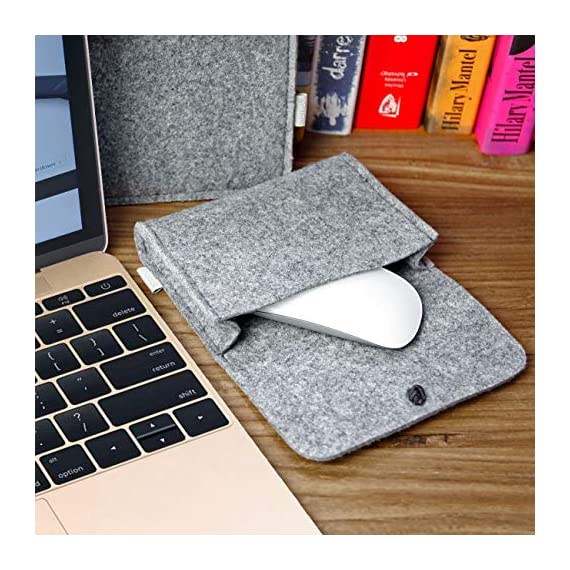 """Inateck 12.3-13 Inch Laptop Sleeve Case Compatible with 2020 MacBook Air, MacBook Pro 13'' 2020/2019/2018/2017/2016… 6 【Fit perfectly only for Apple 12 inch MacBook(Release 2017/2016/2015), and NOT FIT other models】Not designed for 11.6 inch MacBook Air and other laptops. Internal dimensions: 11.2"""" x 7.8"""" - 28.5 x 20 cm; External dimensions: 12.2& x 8.7& - 31 x 22.2 cm High-quality felt outside and soft flannel inside. Practical design and exquisite workmanship; Durable and sustainable."""