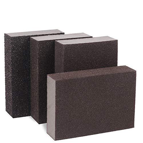 Schleifschwamm - Reastar 4 Stück Schleifblock Schleifpads Schleifblöcke Schleifklotz 4 Verschiedene Spezifikationen Sortiment, waschbar und wiederverwendbar