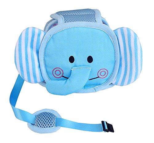 Hillento Baby Schutzhelm, Säugling Kleinkind Kinder Anti-Kollisionskopf Schutzkappe, verstellbare Geschirre Kopfschutz Keine Unebenheiten Kopfpolster Schutzhelm, Elefant
