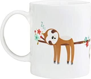 Sloth Gifts Funny Coffee Mug for Women and Men 12oz/350ml   Unique Gift Idea on any Occasion   Ceramic Tea Couple Mugs-White