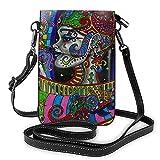Pequeño teléfono celular bolso crossbody retro hippie Arabesque cuero monedero Crossbody bolsos bolso de hombro para niña