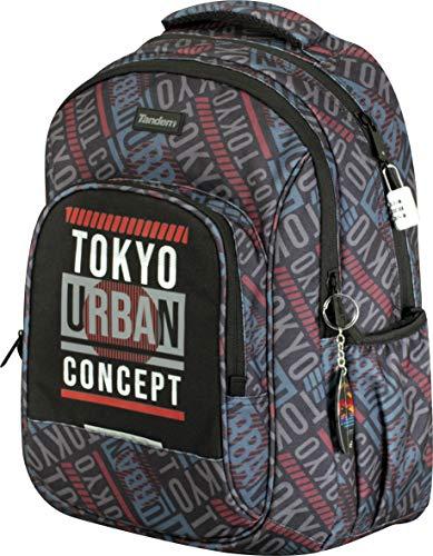 Sportandem Colegio Tandem Tokio Doble Adaptable a Carro para Mochilas Escolares, Bolsillo Frontal y Compartimento Interior para Portatil o Tablet-Medidas 34 x 45,5 x 15 cm (SPTD260015)