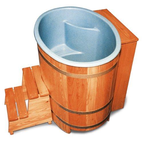 Sauna di botte con inserti in plastica e dopo fuella utomati, pronto per la connessione