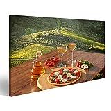 bilderfelix® Bild auf Leinwand Italienische Pizza und