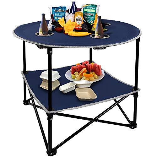 HANGOU Camping Table Portable Table de Pique-Nique...