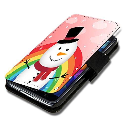 wicostar Book Style Flip Handy Tasche Hülle Schutz Hülle Schale Motiv Etui für Huawei Ascend Y550 - Flip X14 Design12