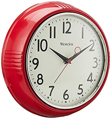 Red Wall Clock Retro Style