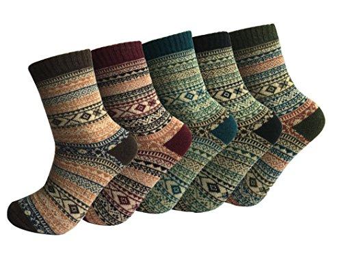 Oliked Herren Business Socken Berufssocken Arbeitssocken Anzugsocken kariert bunt 5 Paar (Colour E)