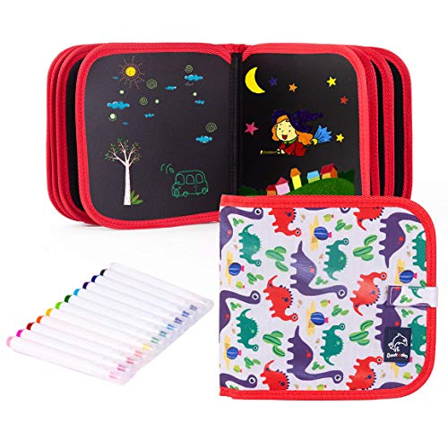 Ltteaoy Erasable Doodle Book, Double-Sided Kids' Drawing Writing Boards,...
