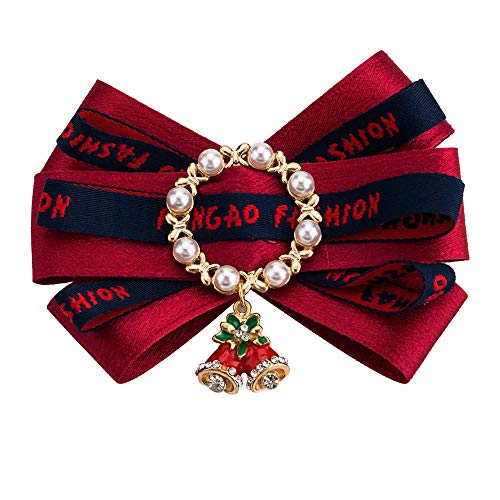 Cravatte e papillon per Papillon da donna Papillon bowknot Boutique Pre-cravatta Papillon Spilla Pin Accessori per abbigliamento natalizio Decorazioni per matrimoni ( Colore : Rosso )