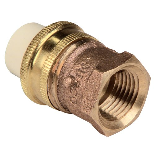 NIBCO 4733-3 Series CPVC and Brass Pipe Fitting, Union, 1/2' Slip x NPT Female
