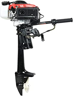 Cozyel 4HP Boat Motor Heavy Duty 4 Stroke Outboard Motor Boat Engine with Air Cooling System