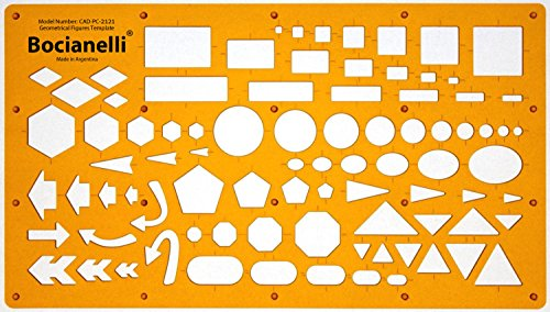 Trace Gabarit Cercle Carré Rectangle Flèche Ellipse Triangle Hexagone Pentagone Symboles - Dessin Technique Traçage Illustration