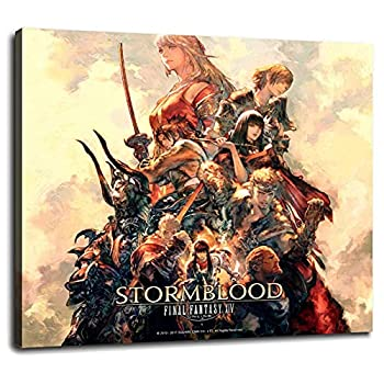 Final Fantasy XIV Online StormBlood Poster Canvas Prints Poster Wall Art For Home Office Decorations With Framed 10 x8