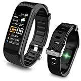 HUYVMAY Fitness Tracker Smart Watch Waterproof Activity Tracker for Women Men, Fitness Bracelet with Heart Rate Monitor Pedometer, Activity Tracker Watch with Call and Message Notification