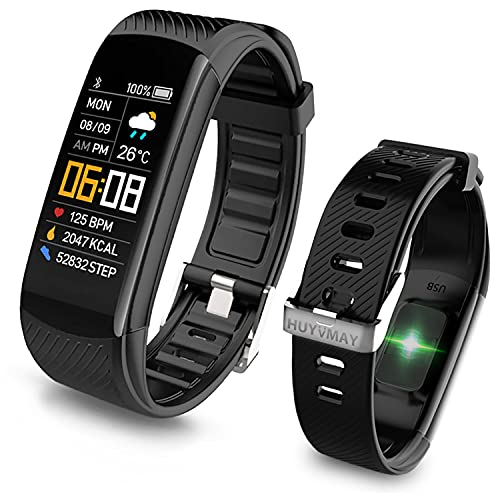 HUYVMAY Fitness Tracker Smart Watch, Waterproof Activity Tracker for Women and Men, Fitness Bracelet with Heart Rate Monitor,Pedometer, Activity Tracker Watch with Call and Message Notification