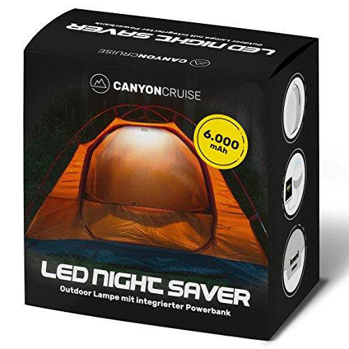 Led-campinglamp met USB-powerbank, accupack, outdoor, campinglantaarn, campinglamp, heroplaadbaar, superhelder.